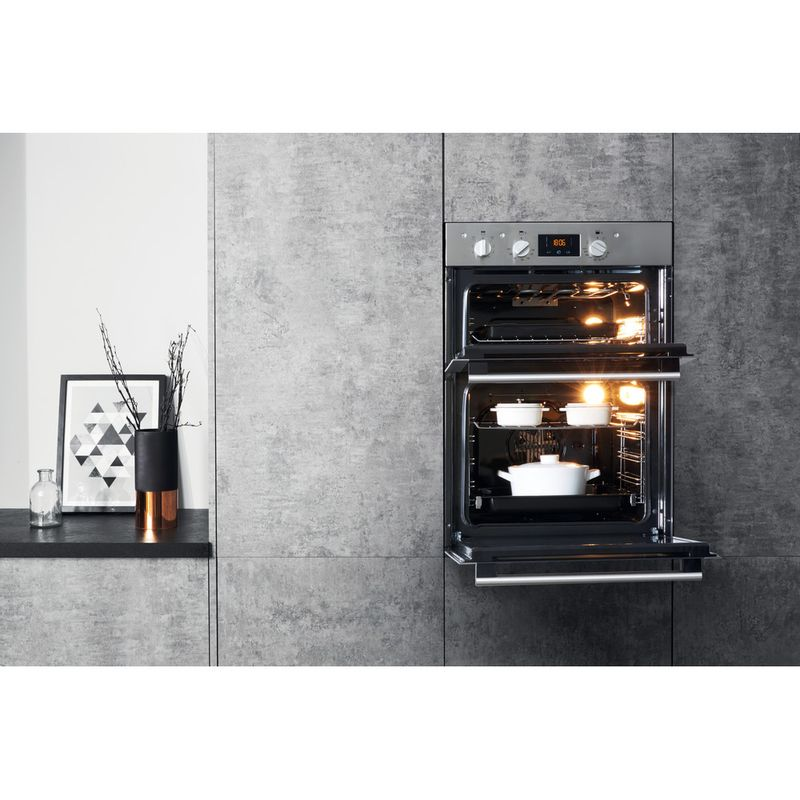 Hotpoint-Double-oven-DD4-541-IX-Inox-A-Lifestyle_Frontal_Open