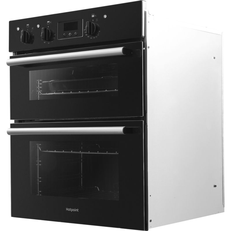 Hotpoint-Double-oven-DU2-540-BL-Black-A-Perspective
