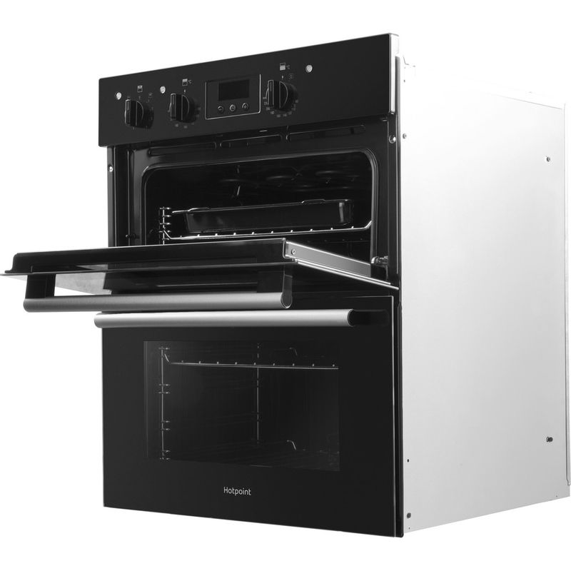 Hotpoint-Double-oven-DU2-540-BL-Black-A-Perspective-open