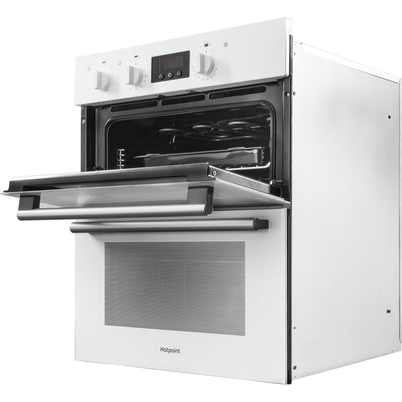 Hotpoint-Double-oven-DU2-540-WH-White-A-Perspective-open