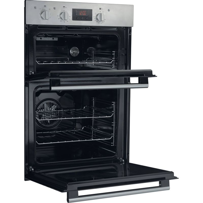 Hotpoint-Double-oven-DD2-540-IX-Inox-A-Perspective_Open