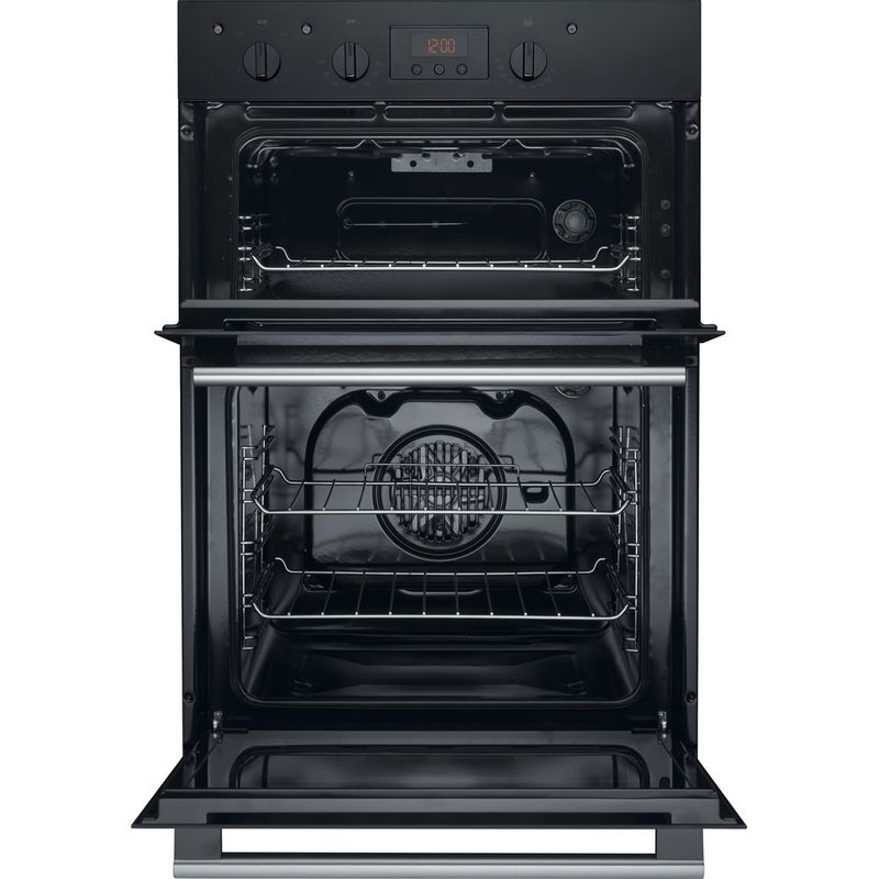 Hotpoint-Double-oven-DD2-540-BL-Black-A-Frontal-open