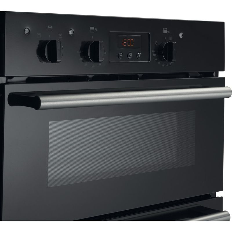 Hotpoint-Double-oven-DD2-540-BL-Black-A-Perspective