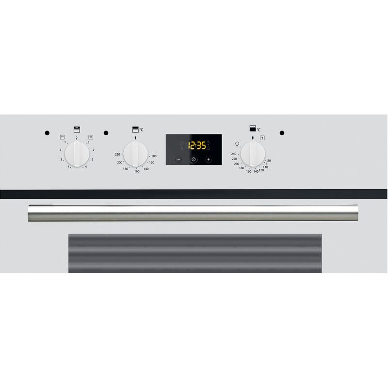 Hotpoint-Double-oven-DD2-540-WH-White-A-Control-panel
