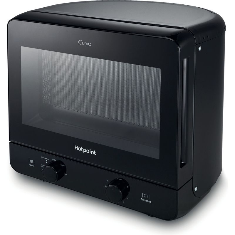 Hotpoint-Microwave-Free-standing-MWH-1311-B-Black-Mechanical-13-MW-only-700-Perspective