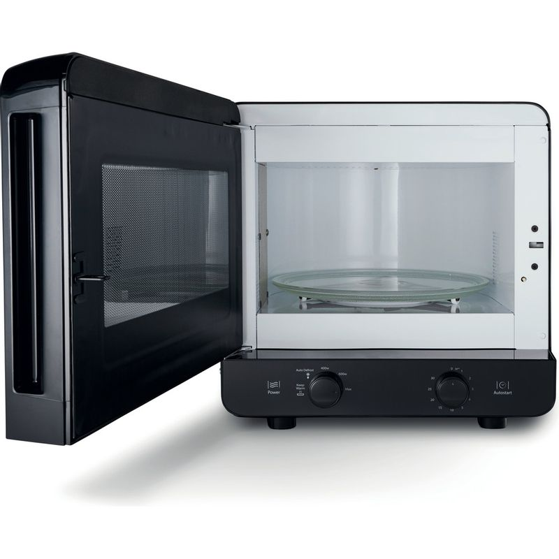 Hotpoint-Microwave-Free-standing-MWH-1311-B-Black-Mechanical-13-MW-only-700-Frontal_Open