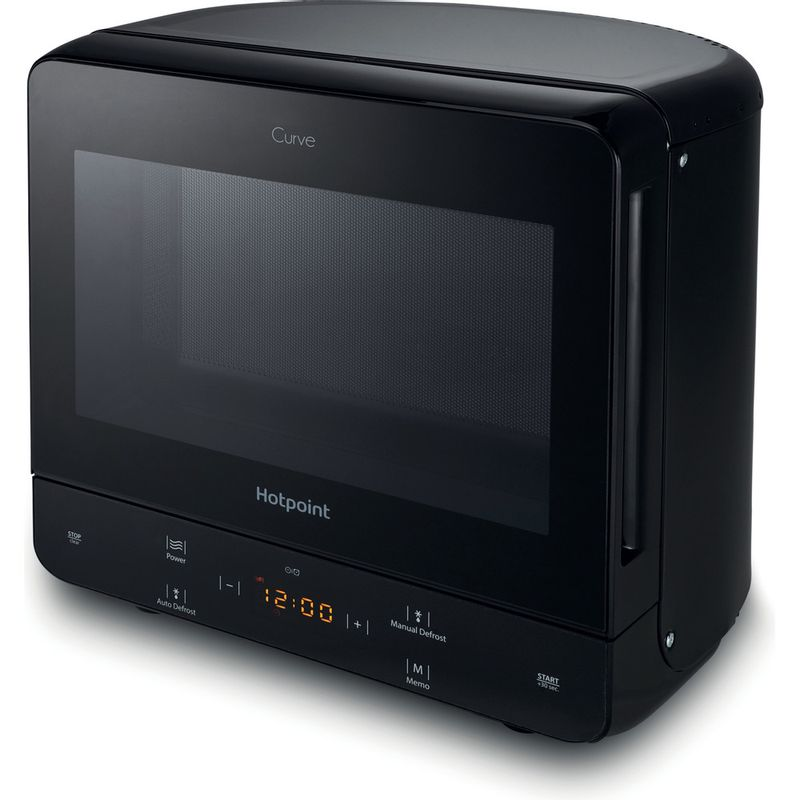 Hotpoint-Microwave-Free-standing-MWH-1331-B-Black-Electronic-13-MW-only-700-Perspective