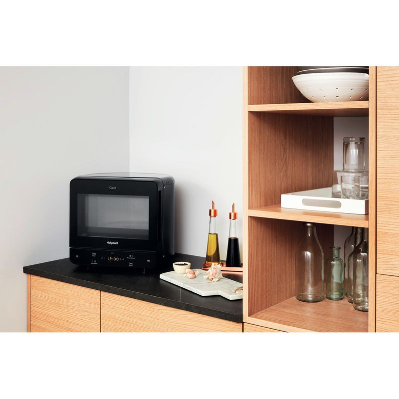 Hotpoint-Microwave-Free-standing-MWH-1331-B-Black-Electronic-13-MW-only-700-Lifestyle-perspective