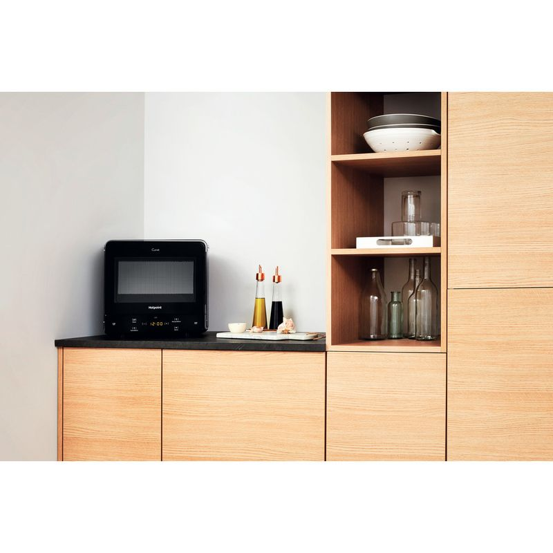 Hotpoint-Microwave-Free-standing-MWH-1331-B-Black-Electronic-13-MW-only-700-Lifestyle-frontal