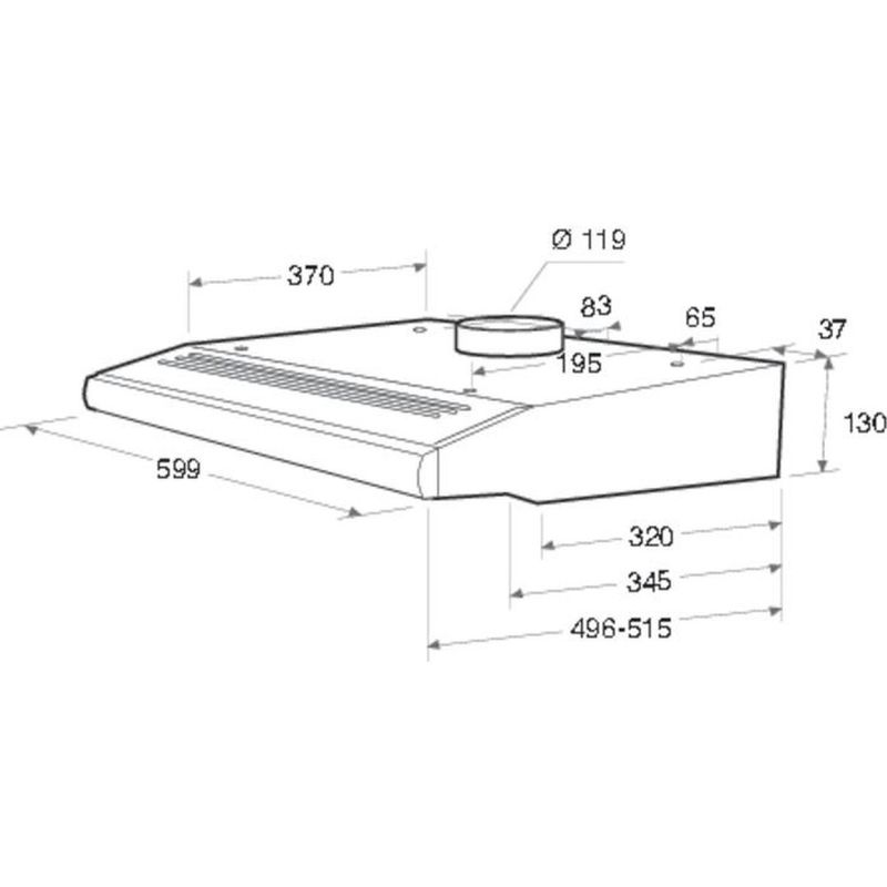 Hotpoint-HOOD-Built-in-PSLCSE-65F-AS-W-White-Free-standing-Technical-drawing