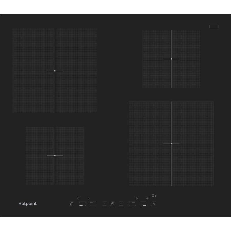 Hotpoint-HOB-CIA-640-C-Black-Induction-vitroceramic-Frontal