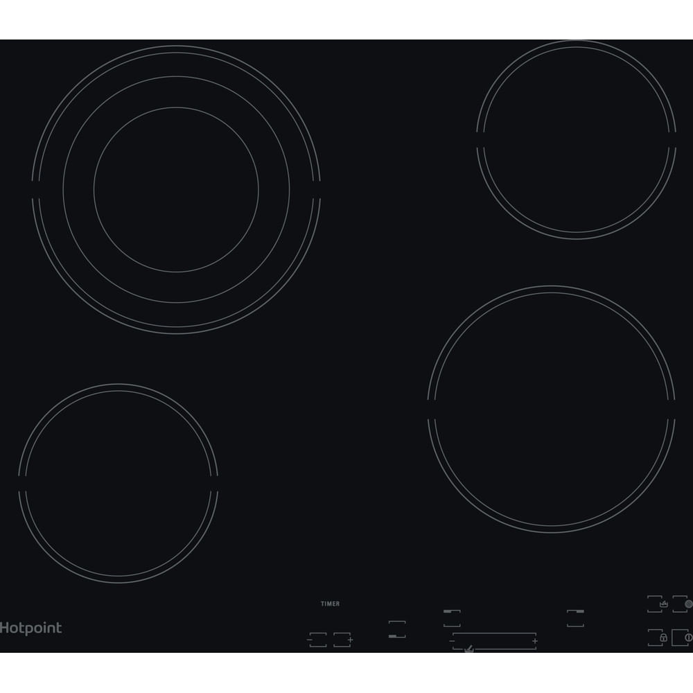 Hotpoint Electric Hob HR 607 B H : discover the specifications of our home appliances and bring the innovation into your house and family.