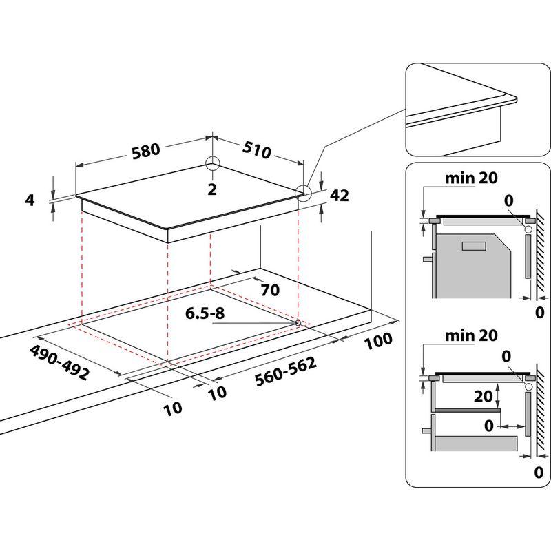 Hotpoint-HOB-HR-607-B-H-Black-Radiant-vitroceramic-Technical-drawing