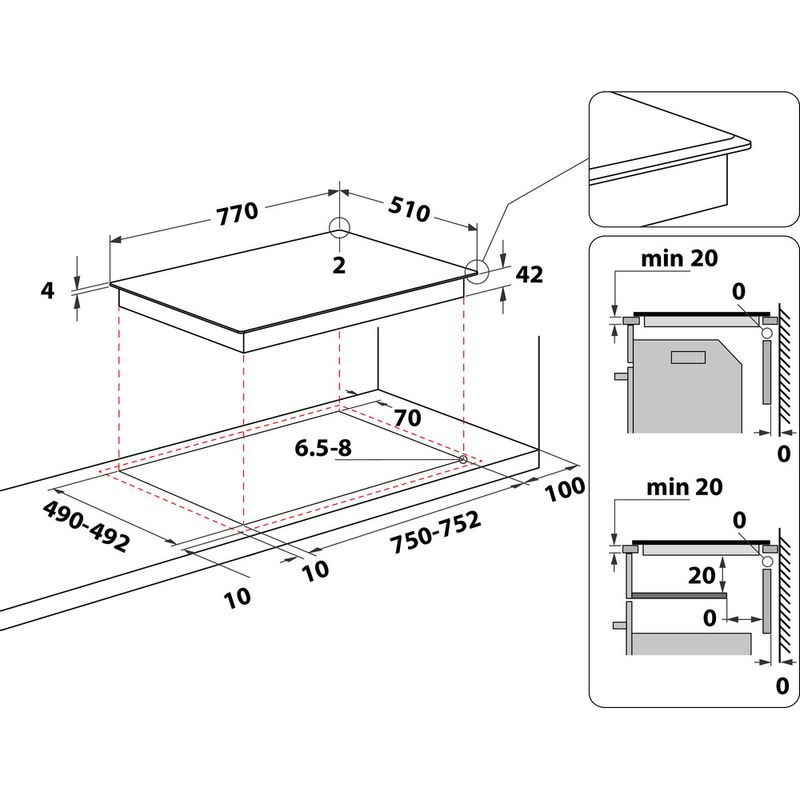 Hotpoint-HOB-HR-724-B-H-Black-Radiant-vitroceramic-Technical-drawing