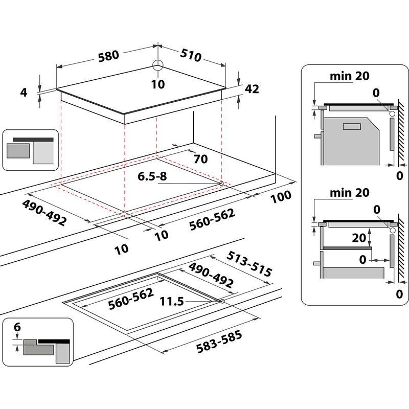 Hotpoint-HOB-HR-651-C-H-Black-Radiant-vitroceramic-Technical-drawing