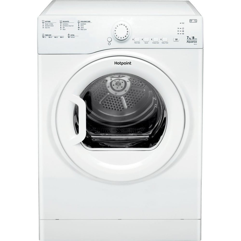 Hotpoint Freestanding tumble dryer TVFS 73B GP.9 UK : discover the specifications of our home appliances and bring the innovation into your house and family.