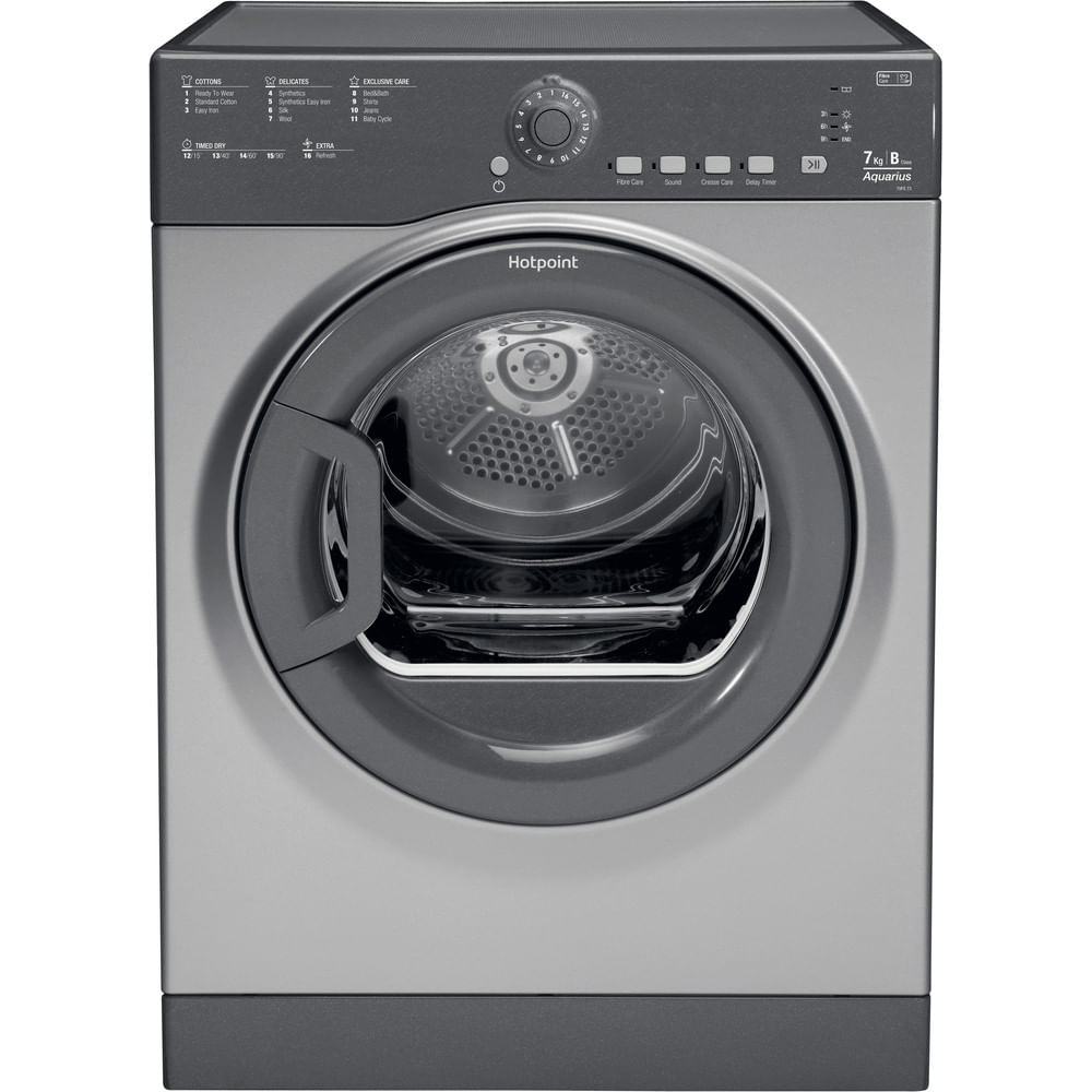 Hotpoint Freestanding tumble dryer TVFS 73B GG.9 UK : discover the specifications of our home appliances and bring the innovation into your house and family.