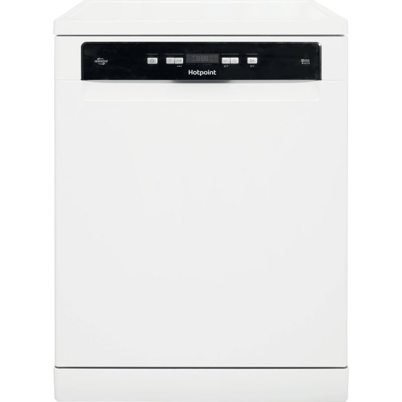 Hotpoint-Dishwasher-Free-standing-HDFO-3C24-W-C-UK-Free-standing-A-Frontal