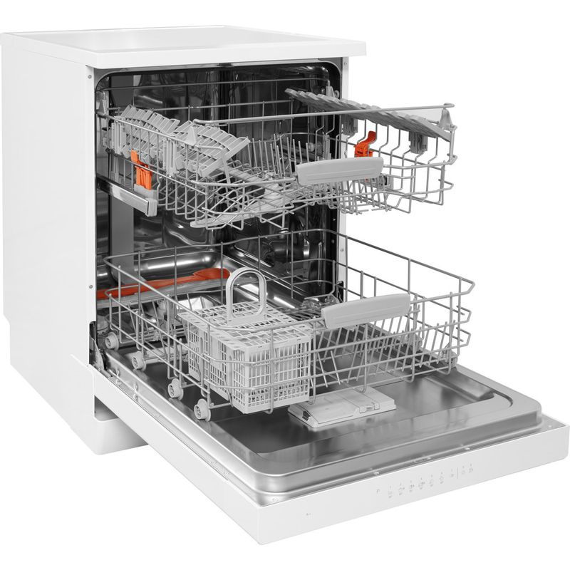 Hotpoint-Dishwasher-Free-standing-HDFO-3C24-W-C-UK-Free-standing-A-Perspective_Open