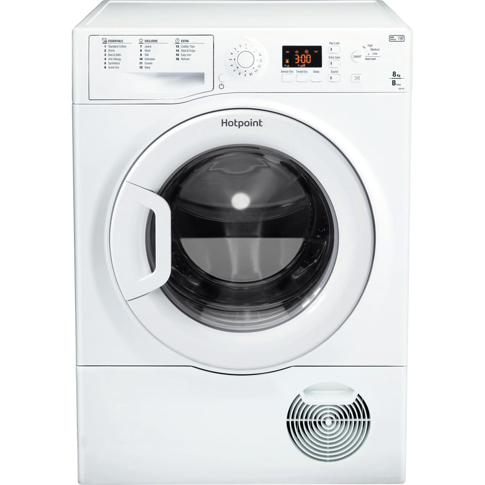 Hotpoint Freestanding tumble dryer ECF 87BP UK : discover the specifications of our home appliances and bring the innovation into your house and family.