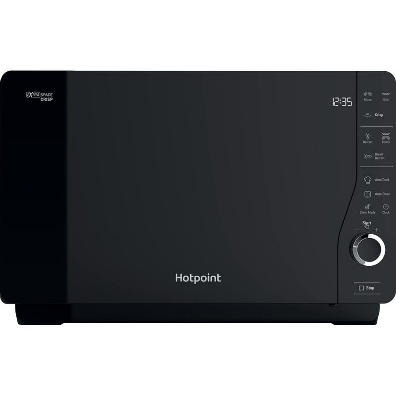 Hotpoint-Microwave-Free-standing-MWH-26321-MB-Black-Electronic-25-MW-Grill-function-800-Frontal