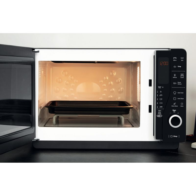Hotpoint-Microwave-Free-standing-MWH-26321-MB-Black-Electronic-25-MW-Grill-function-800-Frontal_Open