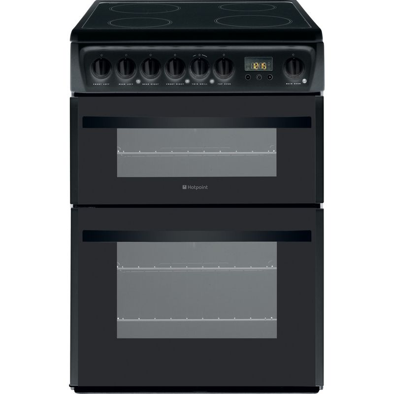 Hotpoint-Double-Cooker-DCN60K-Black-A-Vitroceramic-Frontal