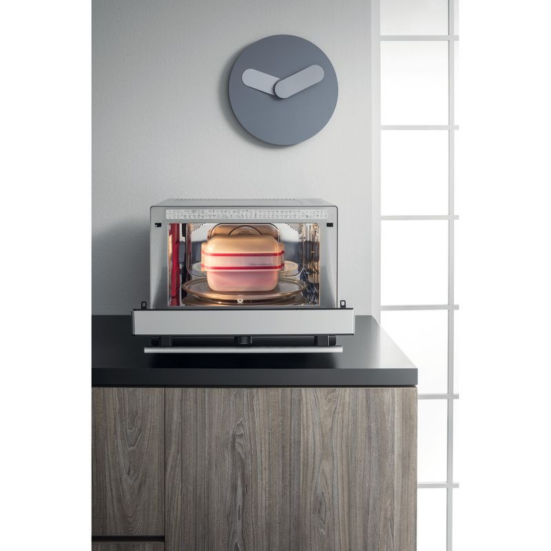 Hotpoint-Microwave-Free-standing-MWH-338-SX-Inox-Electronic-33-MW-Combi-900-Lifestyle-frontal-open