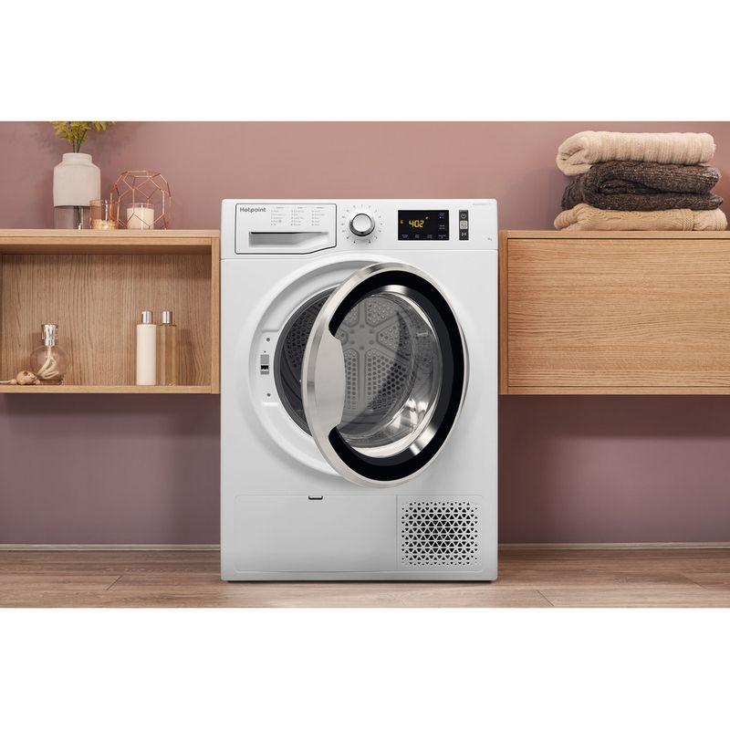 Hotpoint-Dryer-NT-M11-92XB-UK-White-Lifestyle-frontal-open