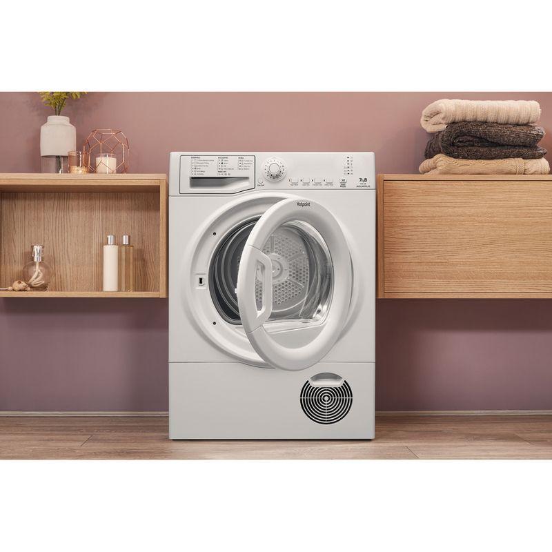 Hotpoint-Dryer-TCFS-73B-GP.9--UK--White-Lifestyle-frontal-open