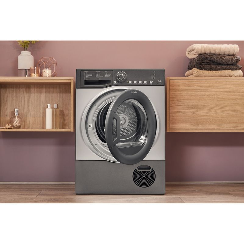 Hotpoint-Dryer-TCFS-83B-GG.9--UK--Graphite-Lifestyle-frontal-open