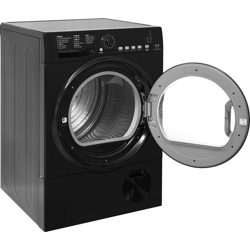 Hotpoint-Dryer-TCFS-835B-GK.9-UK-Black-Perspective-open