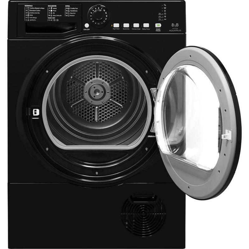 Hotpoint-Dryer-TCFS-835B-GK.9-UK-Black-Frontal-open