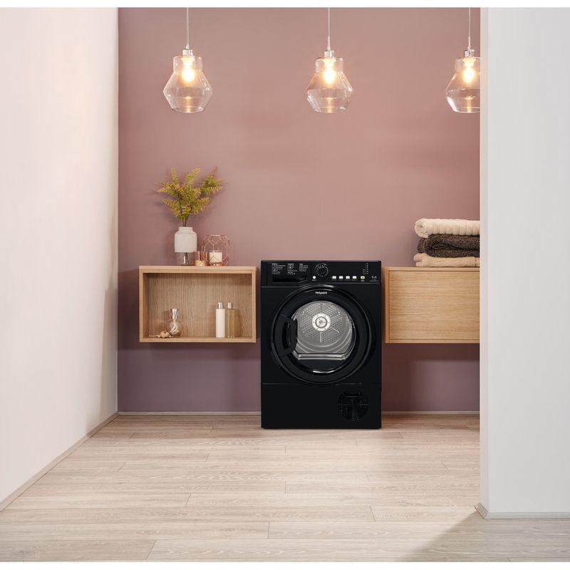 Hotpoint-Dryer-TCFS-835B-GK.9-UK-Black-Lifestyle-frontal