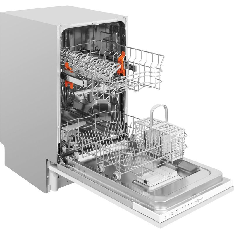 Hotpoint-Dishwasher-Built-in-HSIE-2B19-UK-Full-integrated-A--Perspective_Open