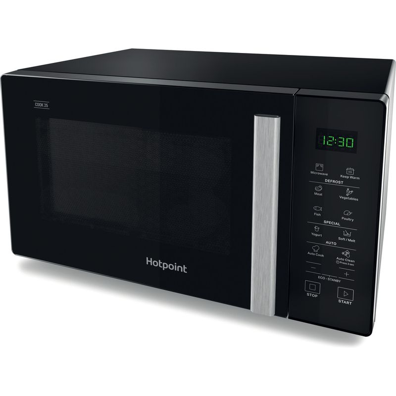 Hotpoint-Microwave-Free-standing-MWH-251-B-Black-Electronic-25-MW-only-900-Perspective