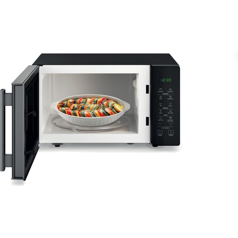 Hotpoint-Microwave-Free-standing-MWH-251-B-Black-Electronic-25-MW-only-900-Frontal_Open