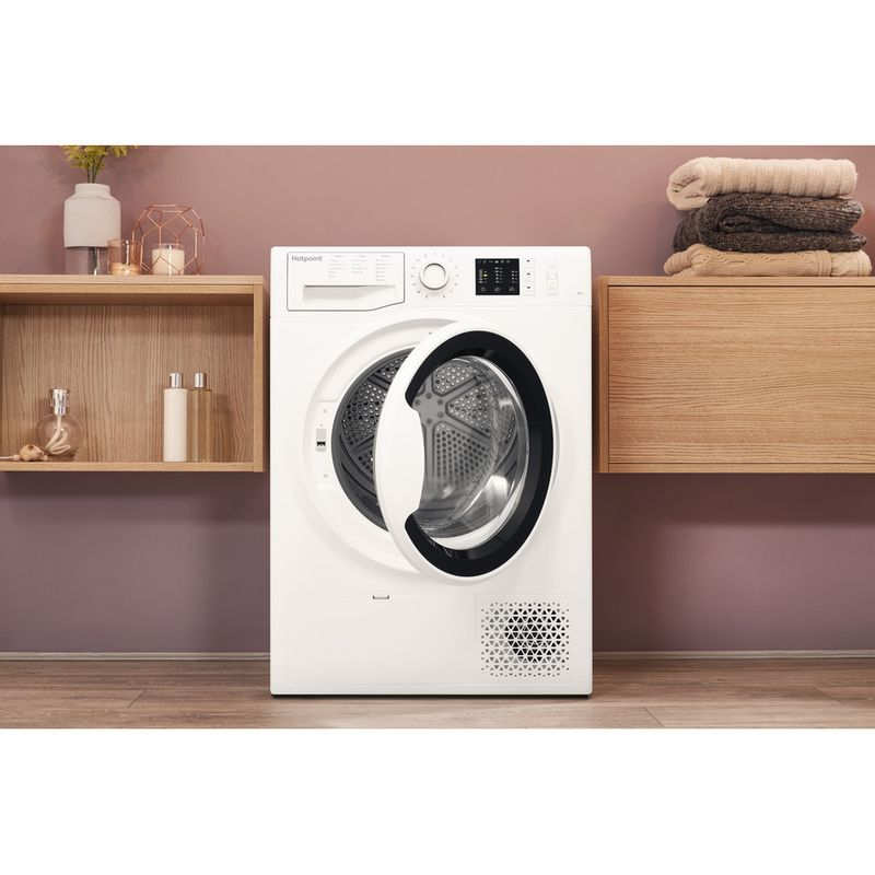 Hotpoint-Dryer-NT-M10-81WK-UK-White-Lifestyle-frontal-open