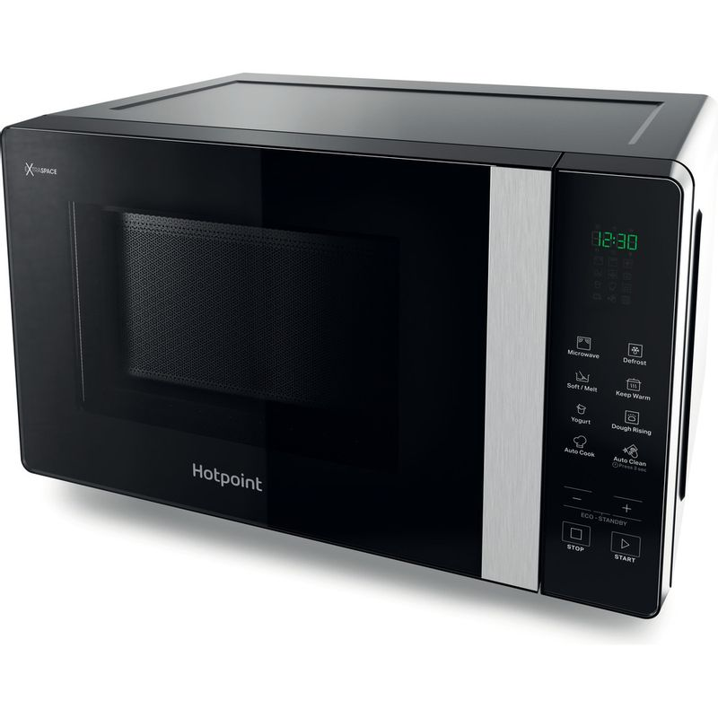 Hotpoint-Microwave-Free-standing-MWHF-201-B-Black-Electronic-20-MW-only-800-Perspective