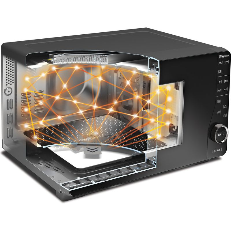 Hotpoint-Microwave-Free-standing-MWHF-201-B-Black-Electronic-20-MW-only-800-Lifestyle-detail