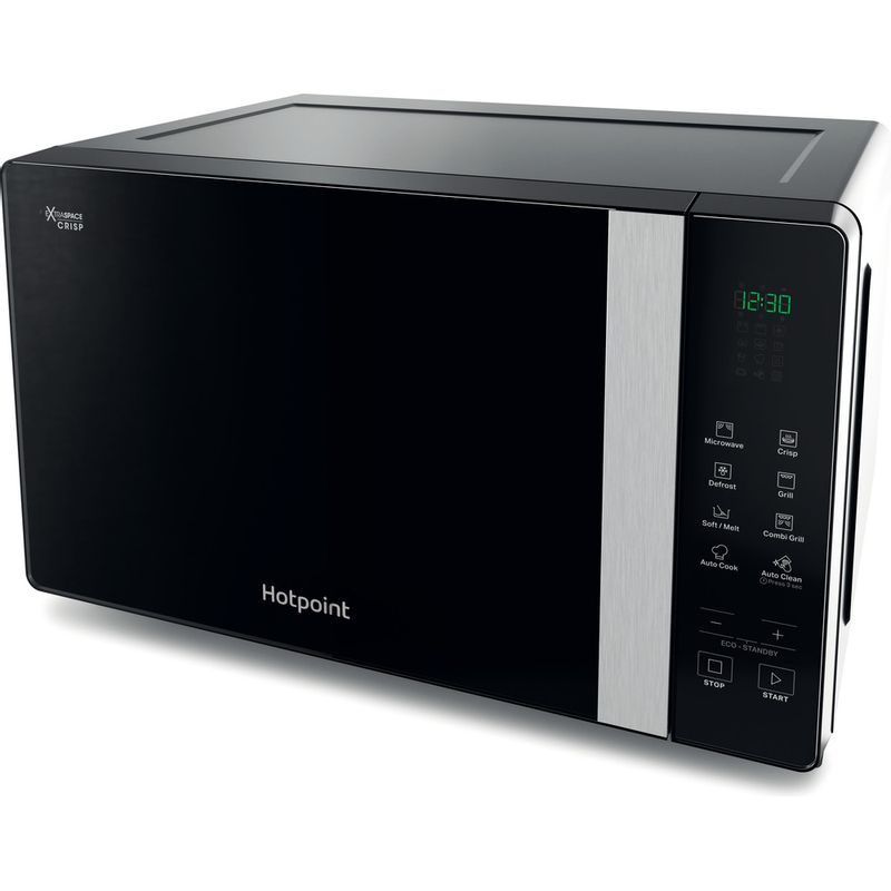 Hotpoint-Microwave-Free-standing-MWHF-206-B-Black-Electronic-20-MW-Grill-function-800-Perspective