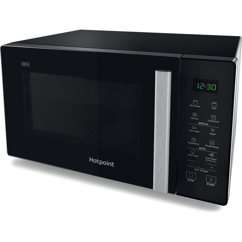 Hotpoint-Microwave-Free-standing-MWH-253-B-Black-Electronic-25-MW-Grill-function-900-Perspective