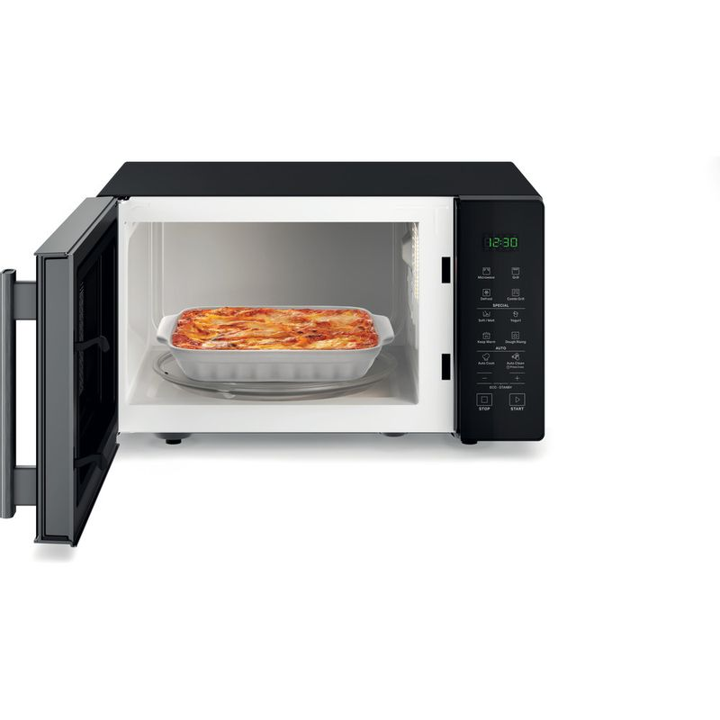 Hotpoint-Microwave-Free-standing-MWH-253-B-Black-Electronic-25-MW-Grill-function-900-Frontal_Open
