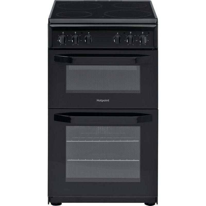 Hotpoint-Double-Cooker-HD5V92KCB-UK-Black-A-Vitroceramic-Frontal