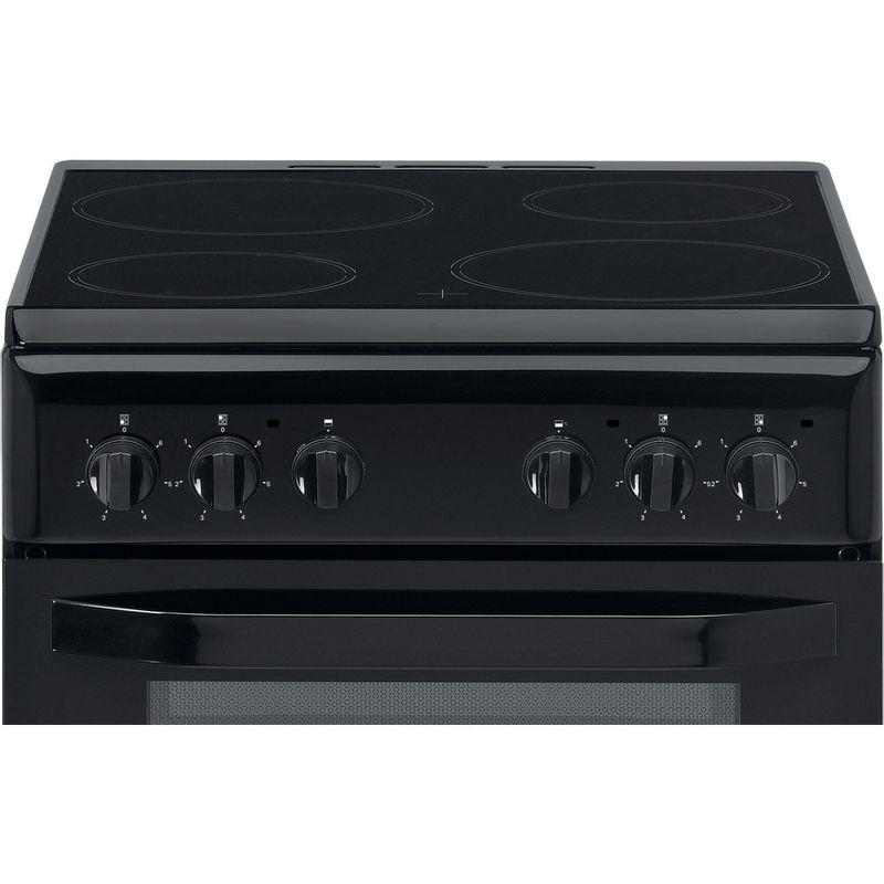 Hotpoint-Double-Cooker-HD5V92KCB-UK-Black-A-Vitroceramic-Control-panel