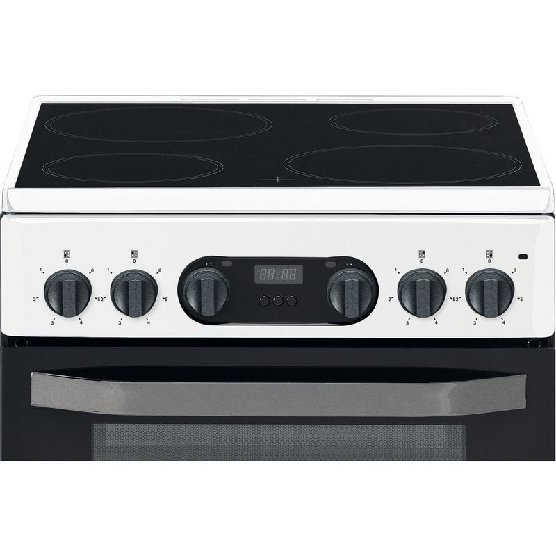 Hotpoint-Double-Cooker-HD5V93CCW-UK-White-A-Vitroceramic-Control-panel