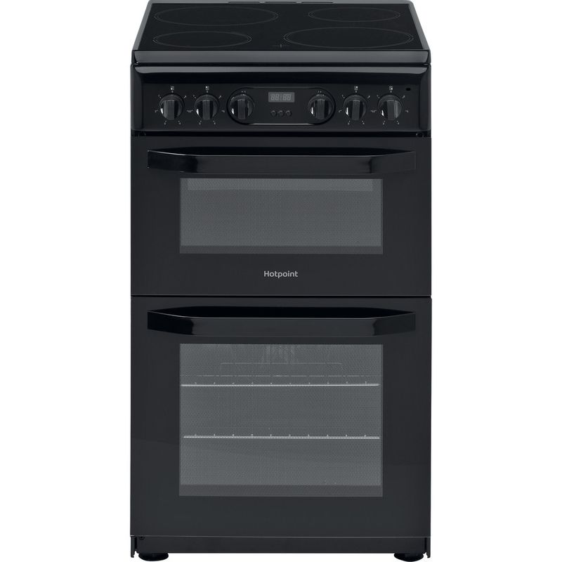 Hotpoint-Double-Cooker-HD5V93CCB-UK-White-A-Enamelled-Sheetmetal-Frontal