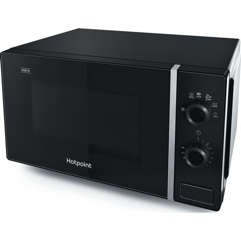 Hotpoint-Microwave-Free-standing-MWH-101-B-Black-Mechanical-20-MW-only-700-Perspective