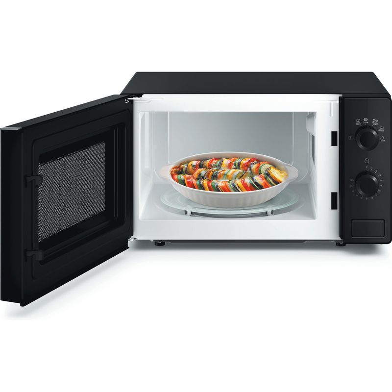 Hotpoint-Microwave-Free-standing-MWH-101-B-Black-Mechanical-20-MW-only-700-Frontal_Open