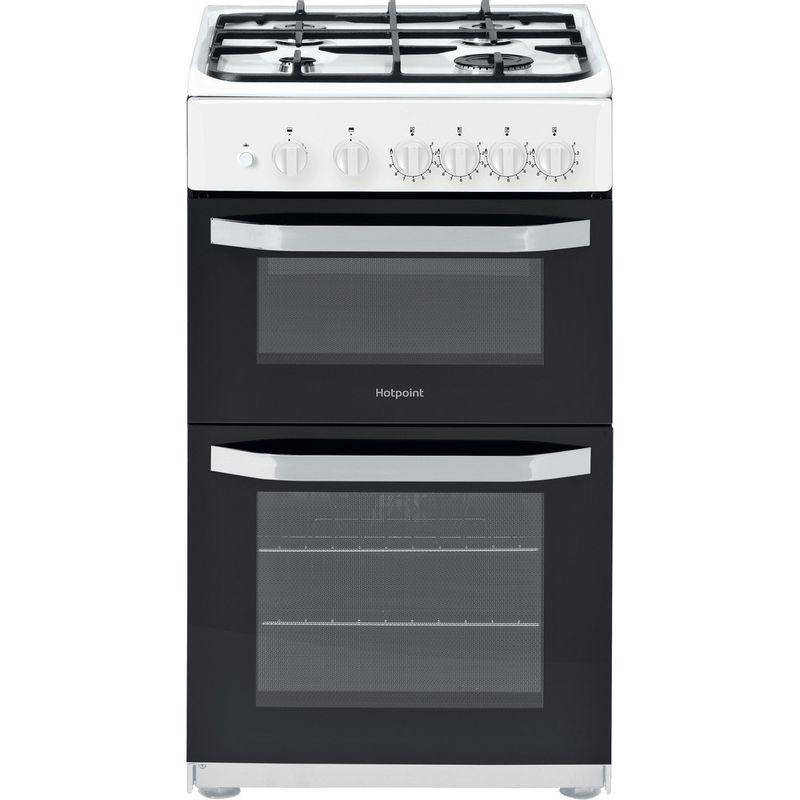 Hotpoint-Double-Cooker-HD5G00KCW-UK-White-A--Enamelled-Sheetmetal-Frontal